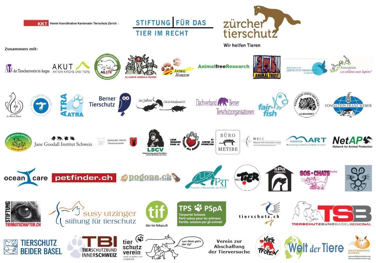 Primatenverusche unterstützende Organisationen 2017