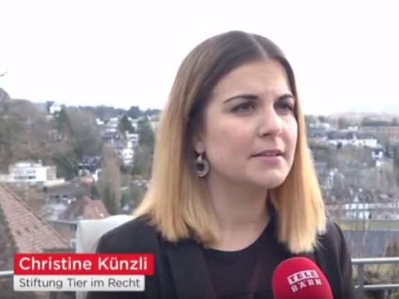 Christine Künzli bei Tele Bärn News vom 2.2.2018