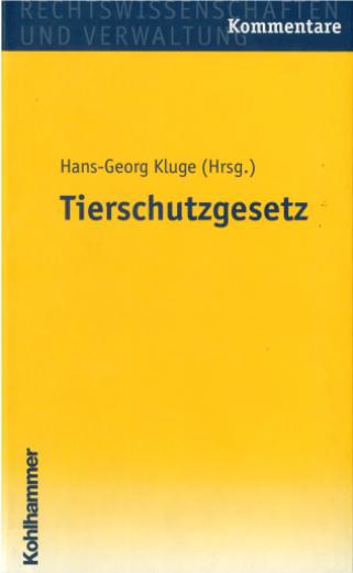 Cover Kommentar TSchG D Kluge hoch