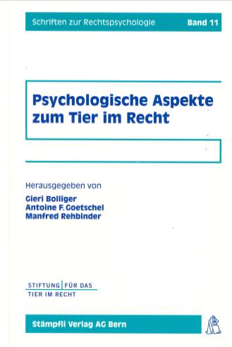 Cover Psychologische Aspekte zum Tier im Recht