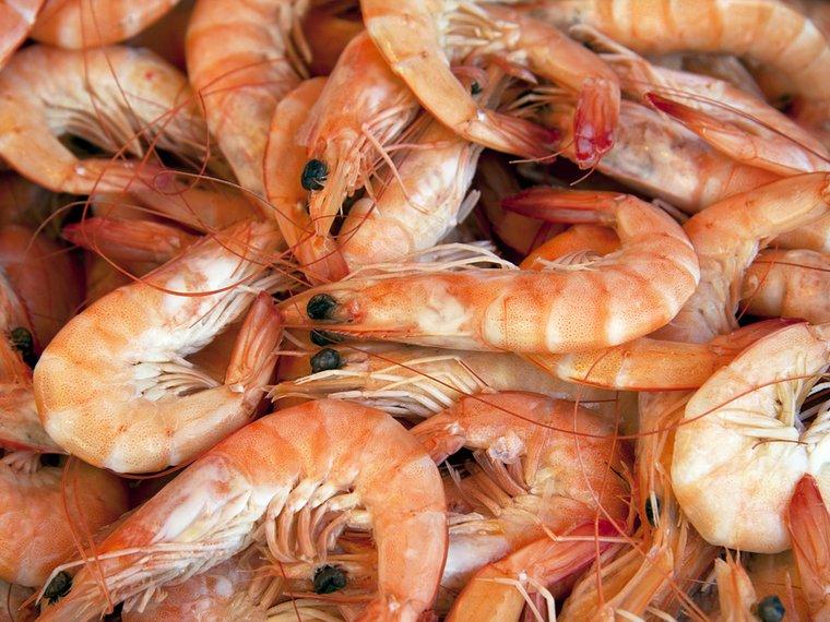 Crevetten Fischmarkt