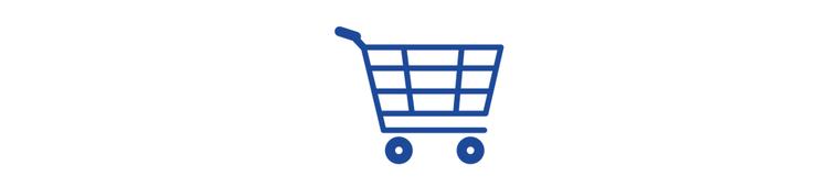 Icon Einkaufswagen Shop 800x180