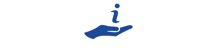 Icon Hand Info weitere Unterstützungsmöglichkeiten 800x180