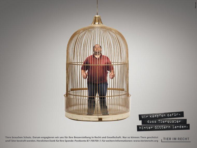 RufLanz Hinter Gitter Vogelkäfig