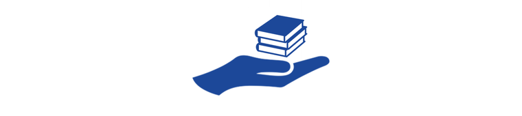 Icon Hand Bücher Buchspenden