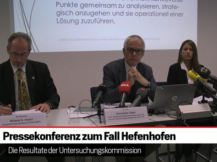 Pressekonferenz zum Fall Hefenhofen 2018