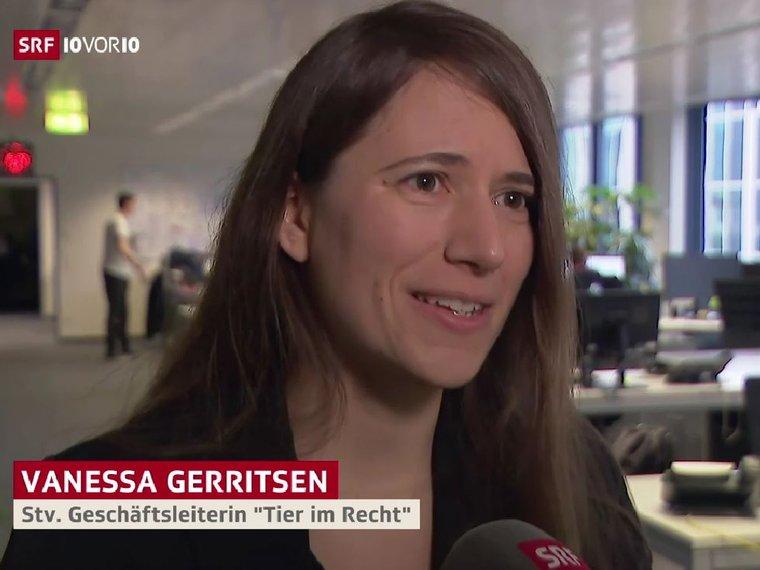 Vanessa Gerritsen bei SRF 10vor10 vom 26.2.2020