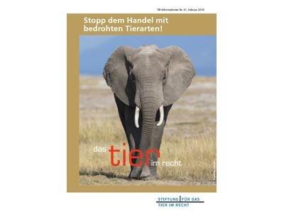 TIR Flyer Nr. 41 Wildtierschutz Artenschutz Februar 2018
