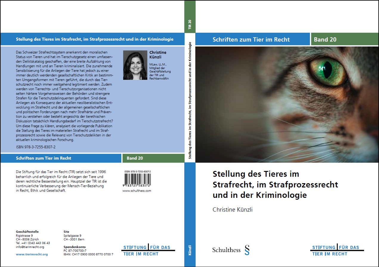 TIR Schriftenreihe Band 20 Umschlag, gerahmt