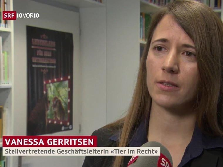 Youtube 10vor10 SRF vom 15.3.2019 mit Vanessa Gerritsen zum Thema Wildtiervorführung in Zirkussen