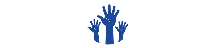 Icon Hände Freiwilligenarbeit 800x180