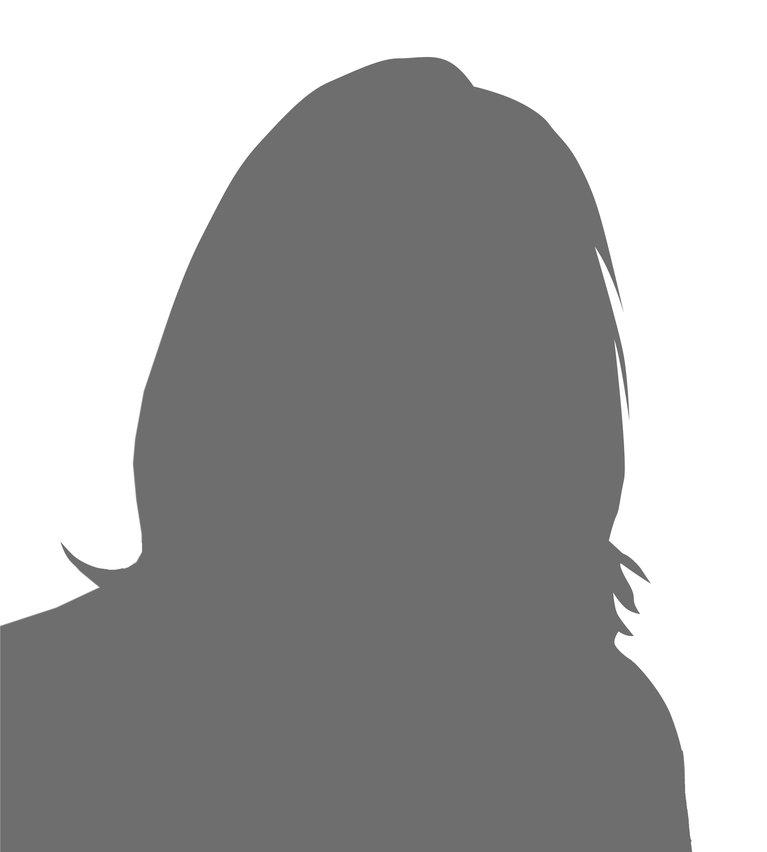Schattenbild Frau Portrait Füller anonym